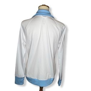 Adidas Jackets & Coats - Adidas White w/ Baby Blue & Yellow Trim Jacket L